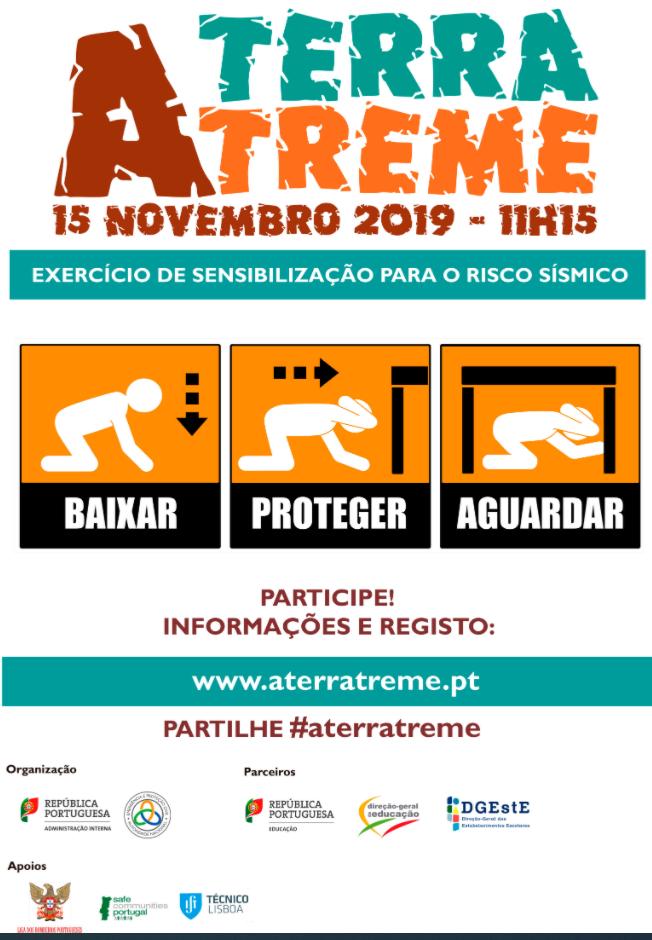 """Exercício Público de Sensibilização para o Risco Sísmico  """"A TERRA TREME"""""""