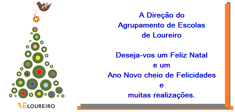 MENSAGEM DE BOAS FESTAS DA DIREÇÃO DO AGRUPAMENTO!